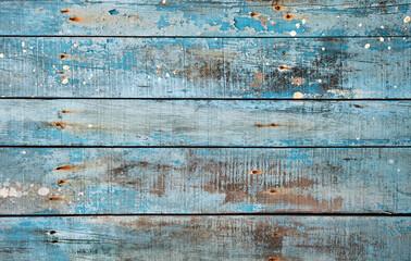 Obraz Blue rustic wooden background - fototapety do salonu