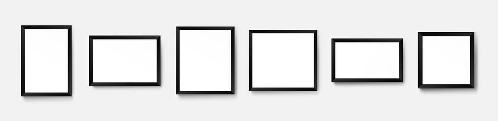 Obraz Realistic picture frame mockup. Vector background - fototapety do salonu