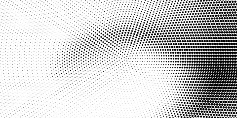 Obraz Halftone monochrome texture with dots. Minimalism, vector. Background for posters, websites, business cards, postcards, interior design. - fototapety do salonu