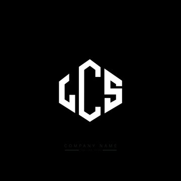 LCS letter logo design with polygon shape. LCS polygon logo monogram. LCS cube logo design. LCS hexagon vector logo template white and black colors. LCS monogram, LCS business and real estate logo.