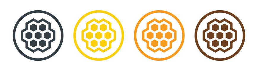 Obraz Honeycomb, honey comb hexagonal icon vector illustration. - fototapety do salonu