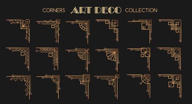 Art deco corners set