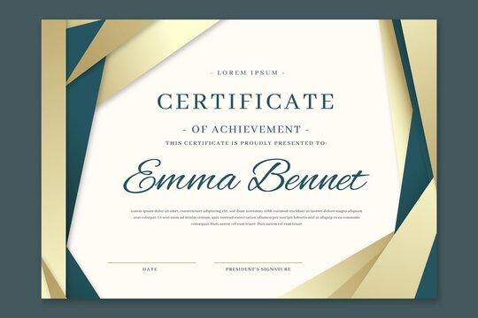 Gradient Elegant Certificate Achievement Template