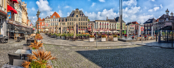 Fototapeta Historic Centre (Grote Markt) at Bergen op Zoom, the Netherlands obraz