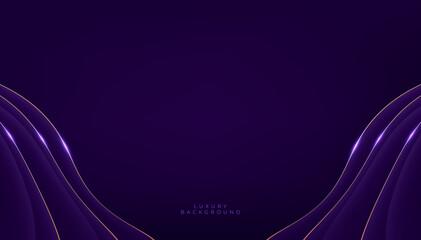 Obraz Luxury purple shapes on dark background. - fototapety do salonu