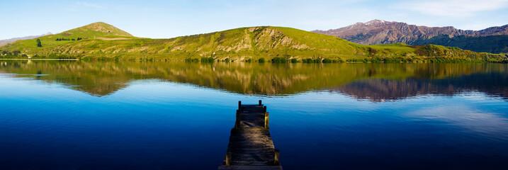 Old boat jetty, Lake Hayes, New Zealand.