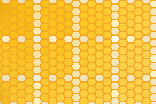 abstract yellow pattern with honeycomb