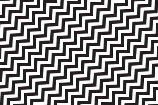 Zigzag pattern in white and black. Eps10 vector