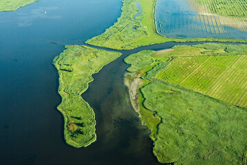 Dutch landscapes from out of a plane