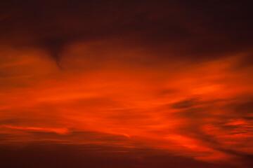Zonsondergang in Katwijk; Sunset in Katwijk, Netherlands