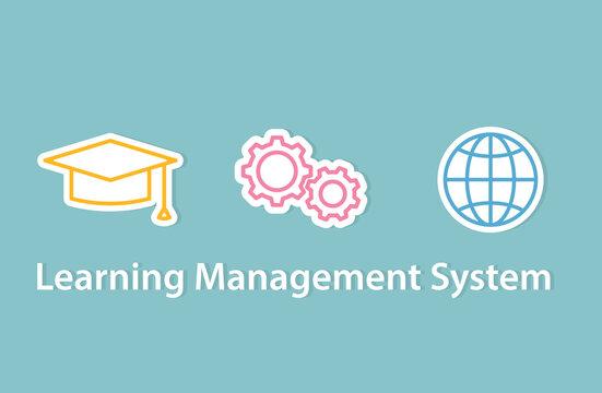 LMS (Learning Management System) concept- vector illustration