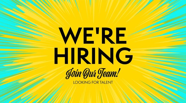 Looking for talent and human resources searching banner. Talented job sicker candidate employee acquisition. We are hiring announcement, join to our team invitation vector illustration