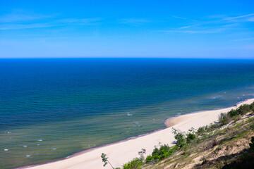 polskie morze, widok , krajobraz, plaża, woda, ocean, fale , morska piana