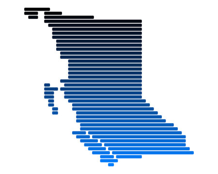 Karte von British Columbia