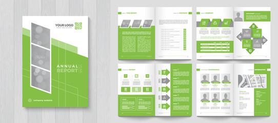 Obraz Corporate Annual Report with a cover. Brochure, Folder, Presentation, Leaflet. A4 format. - fototapety do salonu