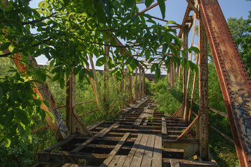 Fototapeta Stary drewniany most  obraz