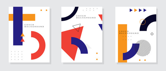 Obraz Minimal annual report design vector collection. Abstract geometric background. Vector illustration - fototapety do salonu