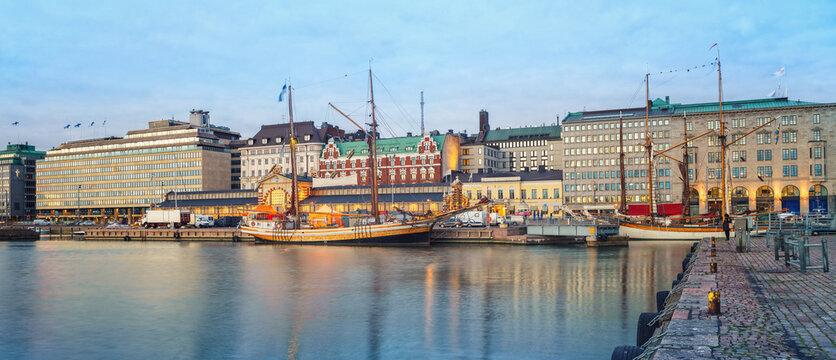 Helsinki harbor at dask, Finland