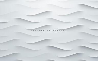 Obraz Dynamic wavy light and shadow gray background - fototapety do salonu