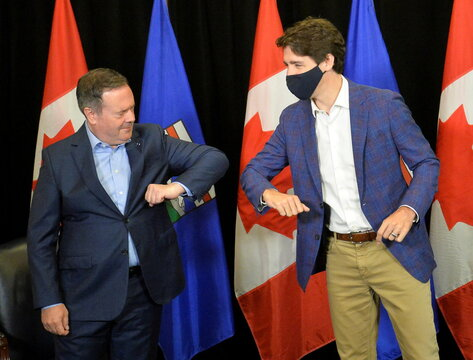 Canada's Prime Minister Justin Trudeau visits Calgary