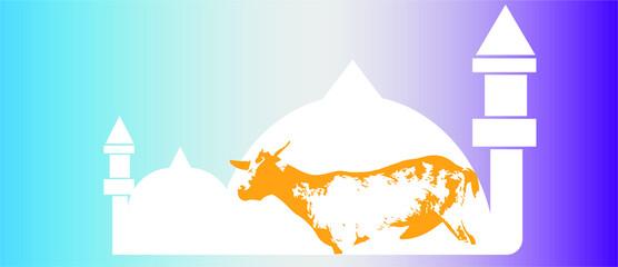Obraz Eid ul adha vector template - fototapety do salonu