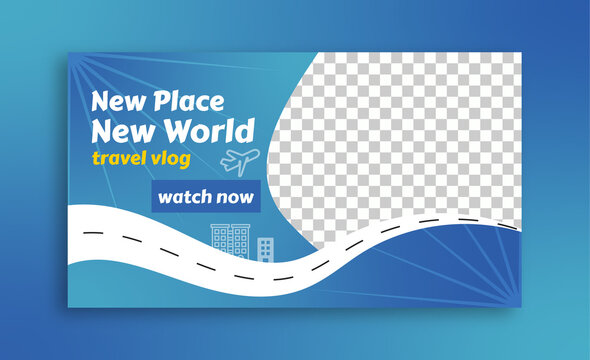 new place new world youtube thumbnail template