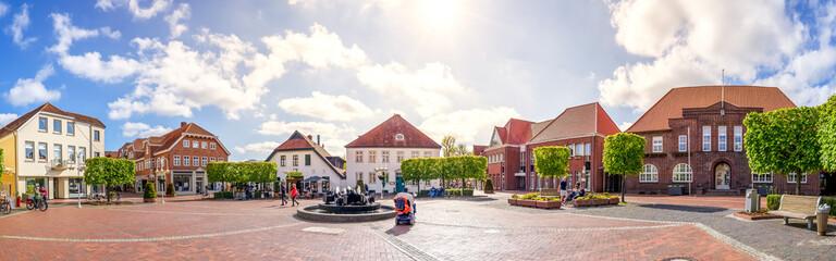 Fototapeta Marktplatz, Westerstede, Niedersachsen, Deutschland obraz