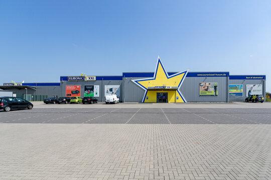 HUSUM, GERMANY - JUNE 18, 2021: Euronics XXL store