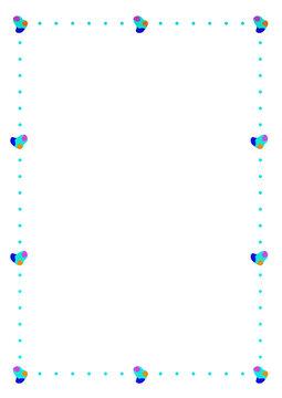 귀여운 모양의 점과 패턴의 프레임