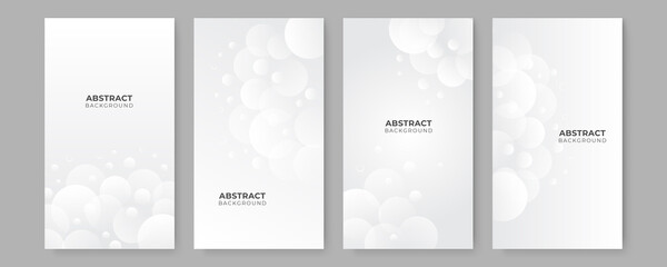 Fototapeta Abstract white square shape with futuristic concept background. Set of white abstract background collection with simple minimal elements obraz