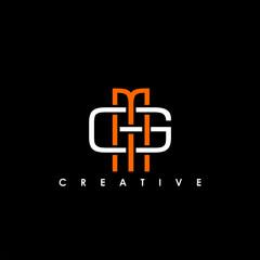 Fototapeta MG, GM Letter Initial Logo Design Template Vector Illustration obraz
