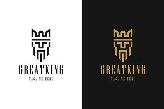 Great King Minimalist Logo Inspiration