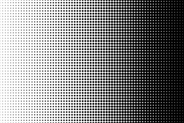 Obraz Dot perforation texture. Dots halftone pattern. Fade shade background. Noise gradation. Black pattern isolated on white background for overlay effect. Design comic. Gradient point. Vector illustration - fototapety do salonu