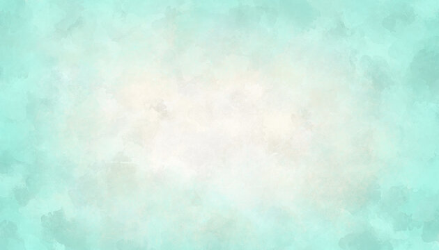 Light watercolor aquamarine and white orange background Abstract illustration of the ocean, water, sea