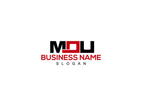 Letter MOU Logo Icon Vector Image Design For Company or Business