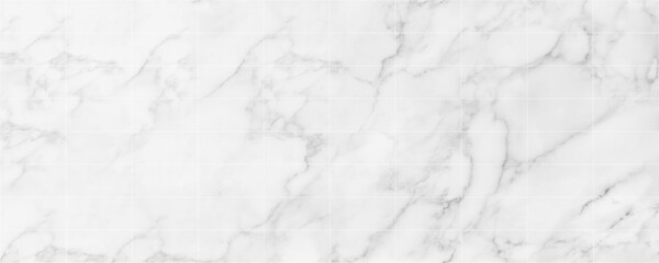 Fototapeta Panorama image of white marble stone texture for background or luxurious tiles floor and wallpaper decorative design. obraz