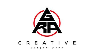 Fototapeta GRA triangle letter logo with circle obraz