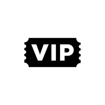 VIP icon, logo isolated on a white background