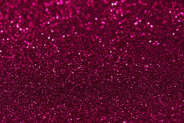 Pink confetti background. Shiny grain texture. Glamour party effect pattern. Glowing noise glitter....
