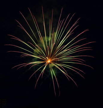 Fireworks display to celebrate an event
