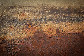 Texture .and Details Of Rust, Used As A Background.
