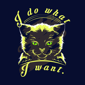 I do what i want slogan t shirt design