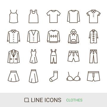 商品アイコン ファッション ラインアイコン