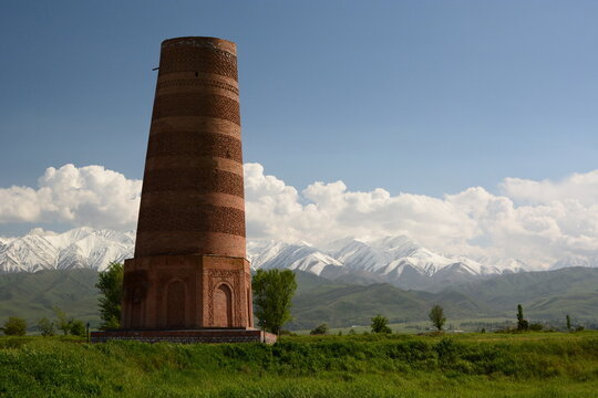 Burana Tower. Tokmok. Chuy Valley. Kyrgyzstan