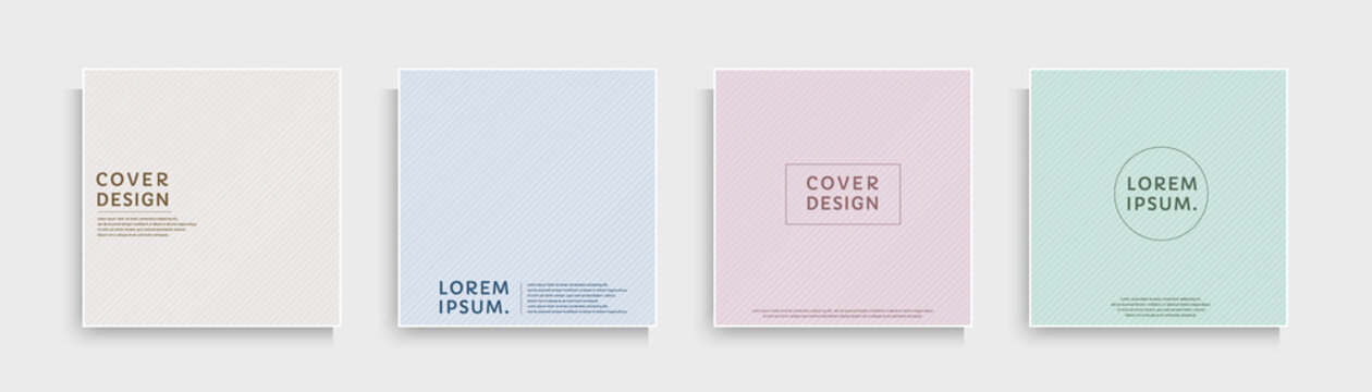 Set of abstract diagonal stripes texture with pink, blue, purple, green, yellow pastel color. Trendy color line pattern collection design. Can use for cover, poster, banner web, flyer,  Print ad.