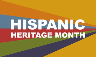 Fototapeta Hispanic Heritage Month background. Poster, card, banner obraz