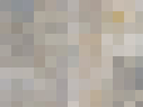Abstract pixel light brown background. Vector geometric texture of square light brown pixels. A backing of mosaic squares. Vector illustration