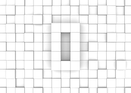 Cube block number 0 background