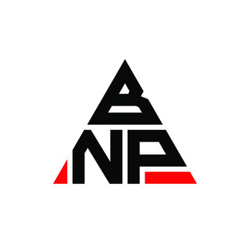 BNP triangle letter logo design with triangle shape. BNP triangle logo design monogram. BNP triangle vector logo template with red color. BNP triangular logo Simple, Elegant, and Luxurious Logo. BNP