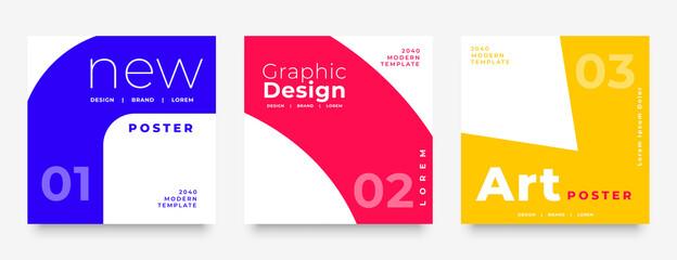 Fototapeta promotional social media post template in geometric style obraz